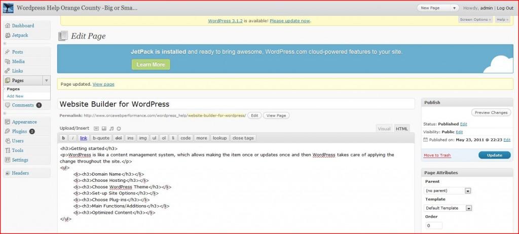 website builder wordpress